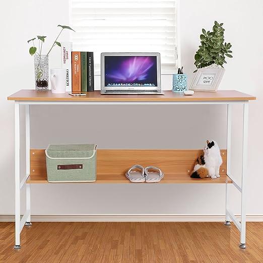 Mesa para ordenador, libro estante Oficina ranuras de trabajo para ...