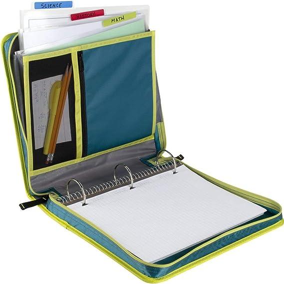 FolderSys Rei/ßverschlusstasche A5 PP farblos transluzent Zip blau