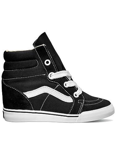 Vans Sneakers Women Sk8-Hi Wedge Sneakers Black True White  Amazon ... 0abc8d7a5