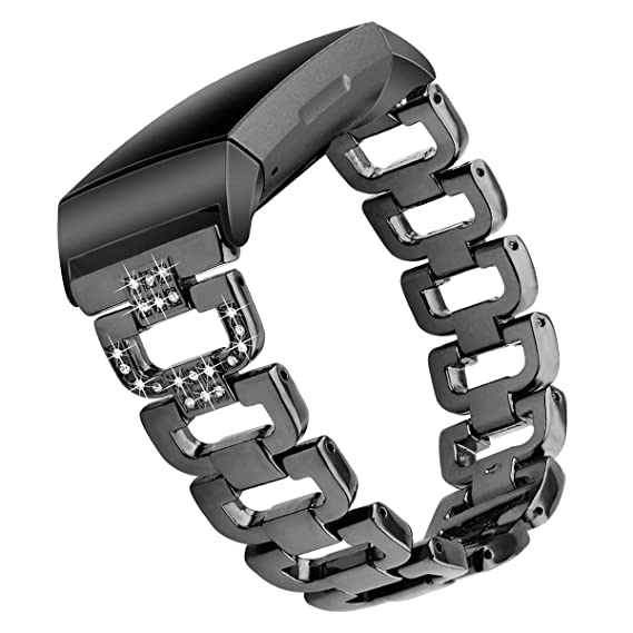 Amazon com: WISLECT Bands Compatible Fitbit Charge 3 Bands Metal for