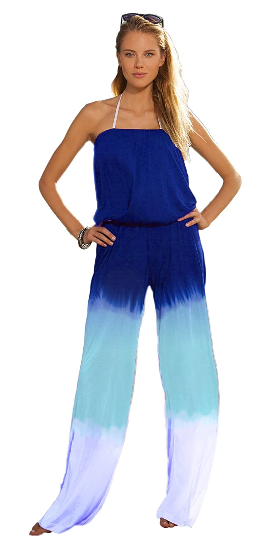 InGear Women's Strapless Dip Dye Blouson Light Gauze Beach Jumpsuit