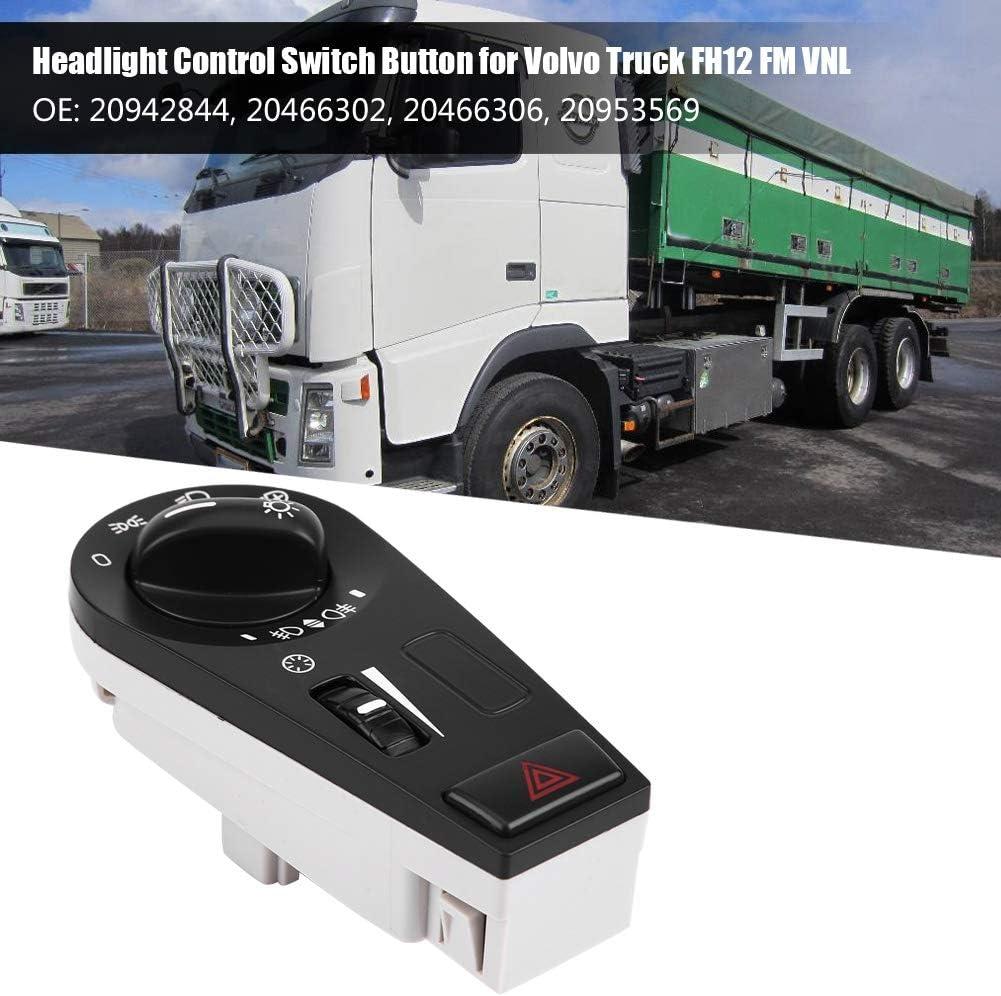 KIMISS Headlight Lamp Control Switch Button Truck Headlight Switch Button for FH12 FM VNL 20942844 20466302