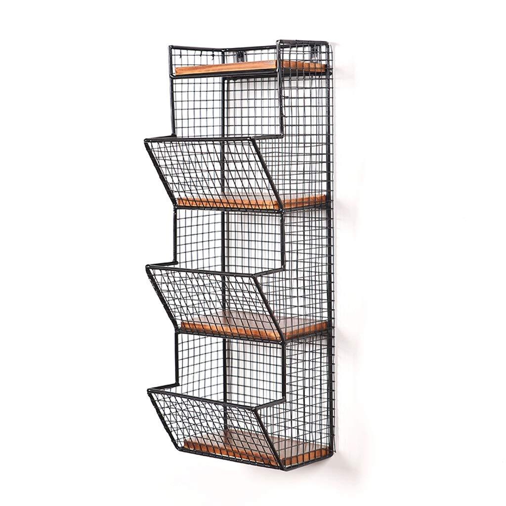 Würfelregale Metallwand Rack Einfache Moderne Kreative Lagerung Stehen Home Wohnzimmer Bar Dekoration Schwimmendes Regal (Farbe : Schwarz, größe : 27.5 * 17 * 58cm)