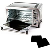 "TWO-PACK 100% Non-Stick 11"" Toaster Oven Liner. Finally, Prevent Spillovers, Gunk & Odors! Great Teflon Liner for…"