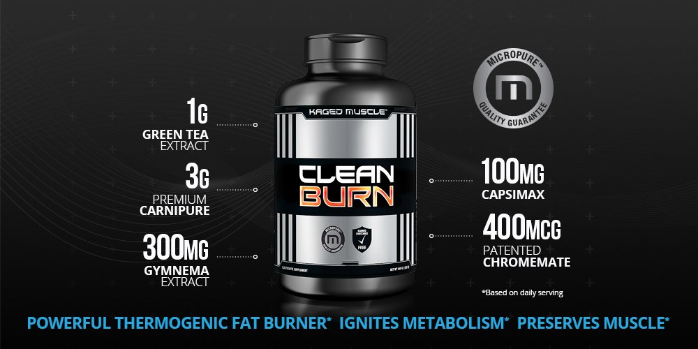Kaged Muscle, Clean Burn Stimulant-Free Weight Loss Supplement for Men & Women, 180 Veggie Diet Pills by Kaged Muscle (Image #4)