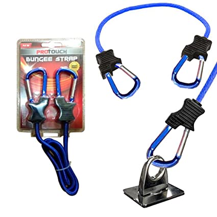 e394028223a8 1 Pc Super Duty Bungee Strap Cord Tie Down Aluminum Carabiner Secure Hooks  3 Ft