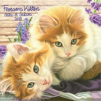 Calendario 2018 gatos arte franciens katten (BT) – Pintura de gato – Dibujo Gato