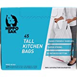 Handle Trash Bag, Hippo Sak® with Power Strip, 13 Gallon Tall Kitchen, (45 Count)