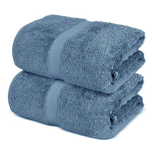 Luxury Super Soft Premium Cotton Bath Sheets, 700 GSM, 35 x 70 inches (Set of 2, Lake Blue)