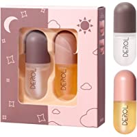 Natural Lip Plumper Set,Lip Plumping Balm and Lip Care Serum,Lip Enhancer Moisturizing Clear Lip Gloss for Beautiful…