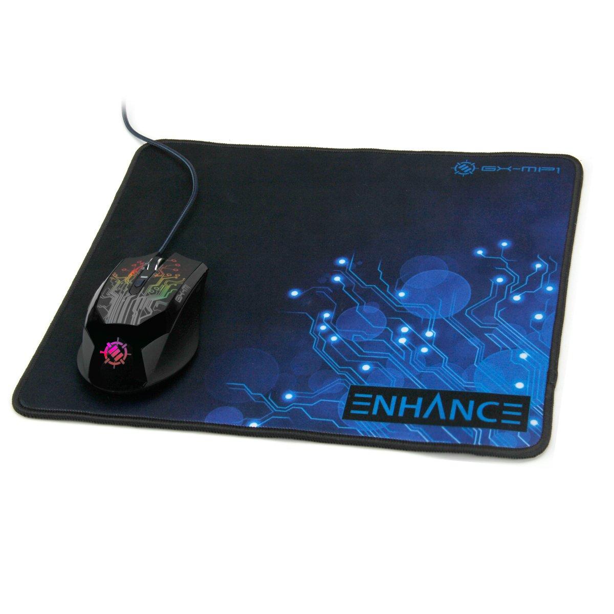 Alfombrilla XL de Rat/ón Gaming para PC por ENHANCE con microcristales reflejantes para que no pierdas ninguna batalla Mousepad de Juego Antideslizante MAC /¡No perder/ás ni una kill!