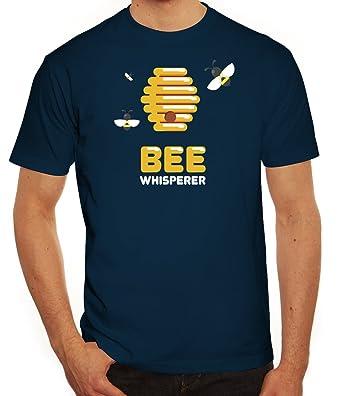 ShirtStreet Imker Herren T-Shirt mit Bee Whisperer Motiv, Größe:  S,Dunkelblau
