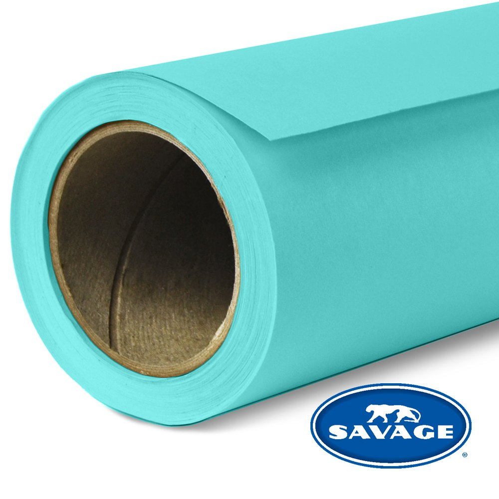 Savage Seamless Background Paper - #47 Baby Blue (107 in x 36 ft) by Savage (Image #1)