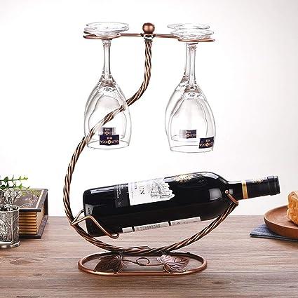 Tritow European Creative Wine Rack Decoración Colgante Portavasos Con Taza Moderna Estantería de vino minimalista Bar