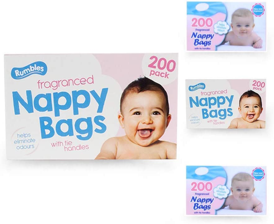 800 in total 4 x 200 pack Nappy Sacks Jumbo Box