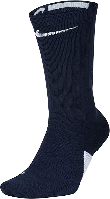 Hamburguesa papel He aprendido  Amazon.com: Nike Elite Crew Basketball Socks (Large, Midnight  Navy/White/White): Clothing