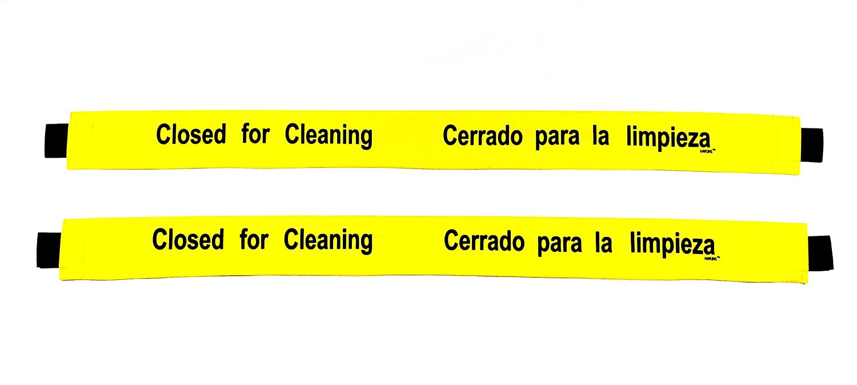 Amazon.com: Cartel cerrado para limpieza con extremos ...