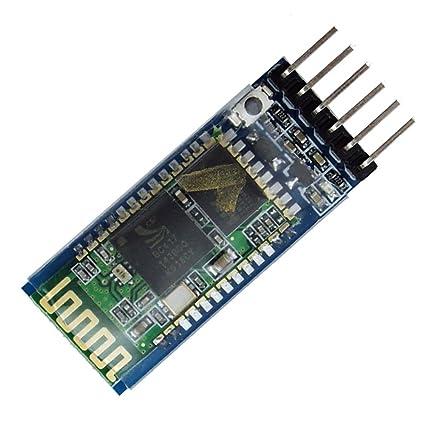LeaningTech HC-05 Module Bluetooth Serial Pass-Through Module Wireless  Serial Communication with Button for Arduino