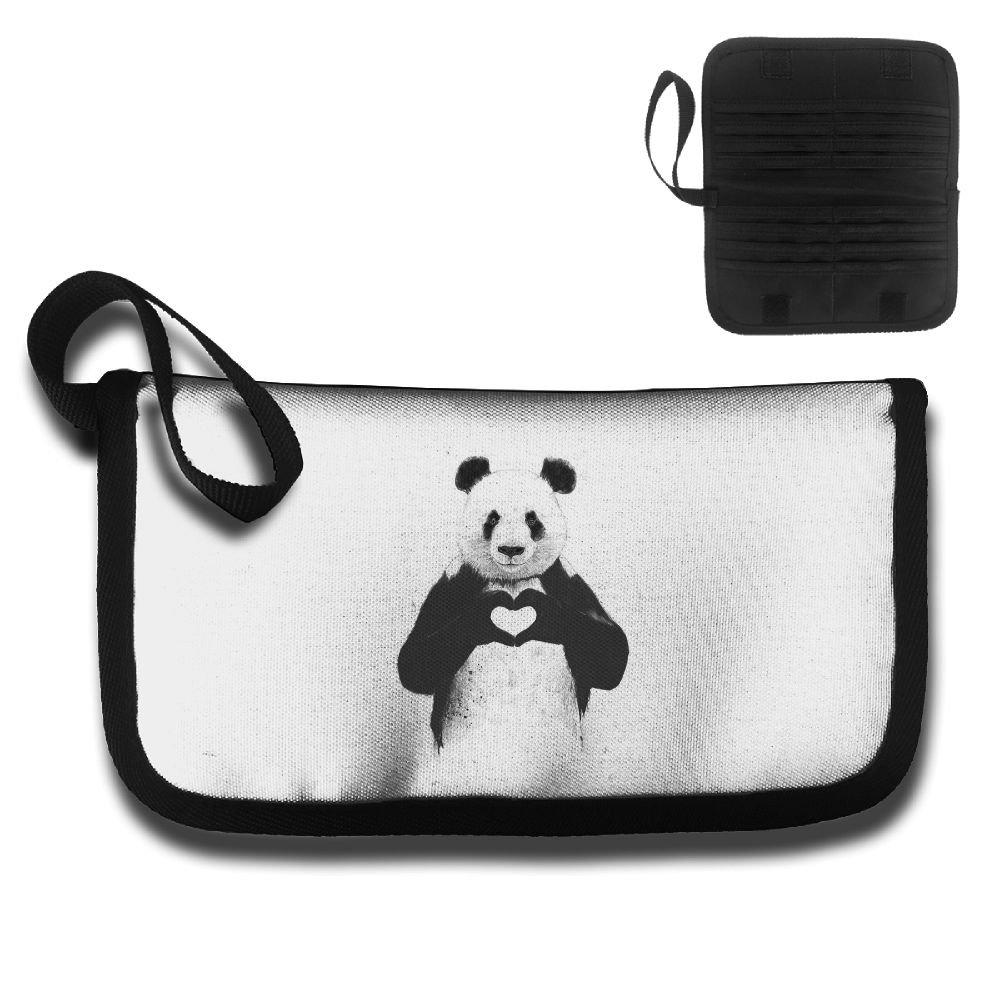 Gili Love Panda Travel Passport & Document Organizer Zipper Case