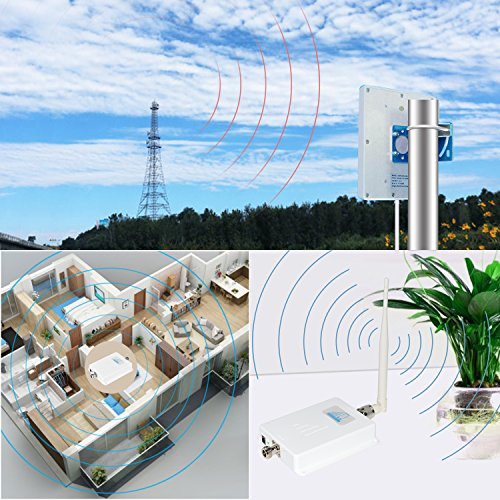 ATT T-Mobile Cell Phone Signal Booster 4G LTE Cell Signal Booster HJCINTL 700MHz Band 12/17 FDD Home Mobile Phone Signal Booster Amplifier Cover- 2500sq ft by HJCINTL (Image #4)