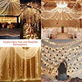 Solar String Lights, LDesign 72ft 200 LED Solar Decorative Romantic Powered Starry Fairy Lights Waterproof Christmas Lights for Outdoor,Indoor,Garden, Home, Christmas Party, Wedding,Holiday, Mall,Xmas Tree - 8 Modes Warm White