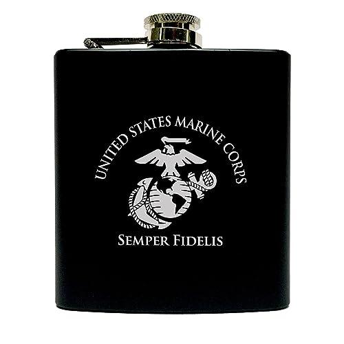 Marine Corps Flask-Matte Black