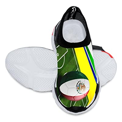 2018 World Cup Mexico Football Team 3D Printing Customized Fashion Low Flyknit Outdoor Comfortable Sports Football Casual slip Boy Shoes White