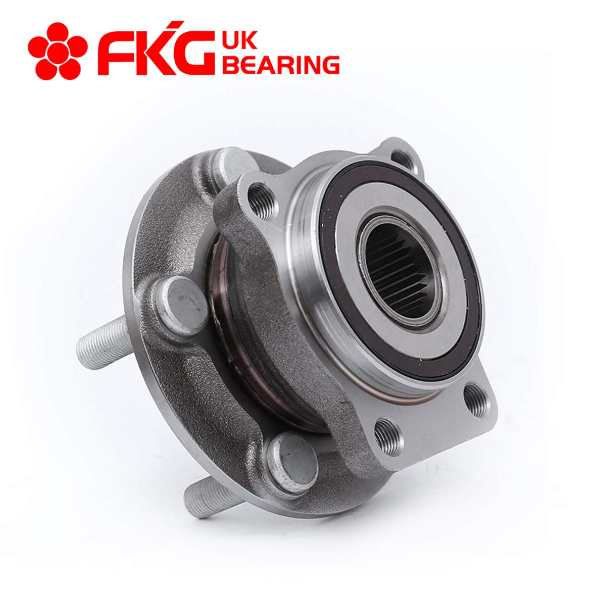 FKG 513220 Front Wheel Bearing Hub Assembly For 2005-2014 Subaru Outback, 2005-2014 Subaru Legacy 5 Lugs by FKG