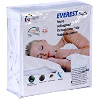 Everest Polyzip Box Spring Encasement 100% Bed Bug Proof, Dustmite Proof, Machine Washable, Hypoallergenic - Premium Zippered Six-Sided Cover
