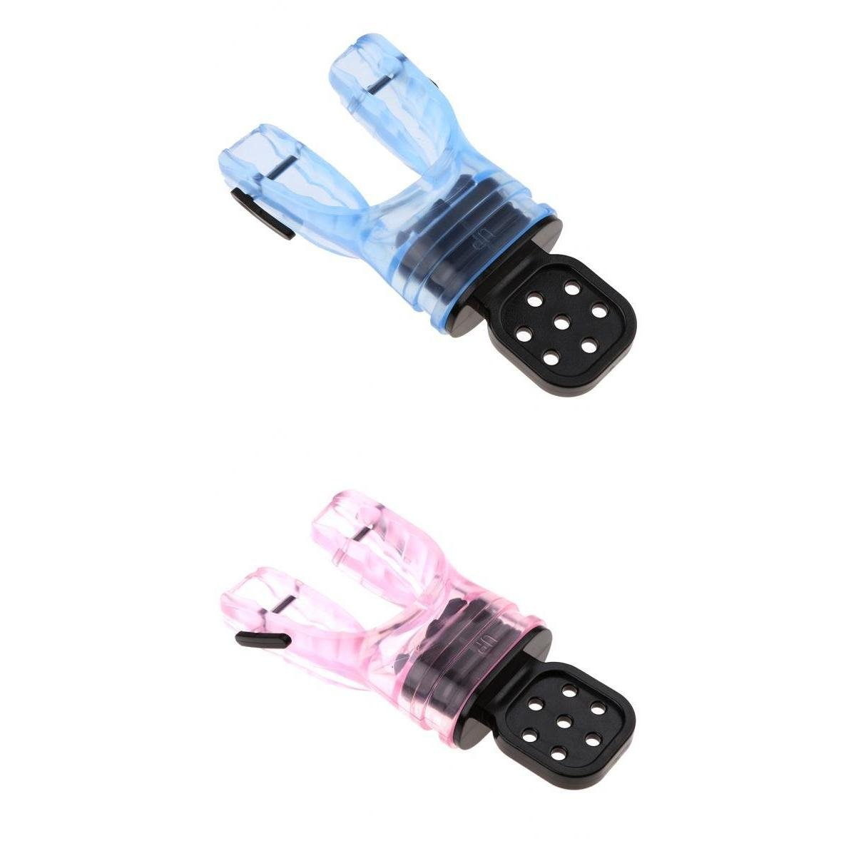 MagiDeal 2Pcs Comfort Silicone Scuba Diving Dive Snorkel Standard Moldable Regulator with Tie Wrap - Choice of Color