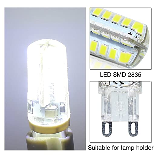 ELINKUME 10 Pack G9 LED Lámpara 4W Blanco frío, Reemplazo para 40W G9 Bombillas halógenas, 320Lumens 6000K No regulable G9 Bombillas LED, 360 grados Ángulo, ...