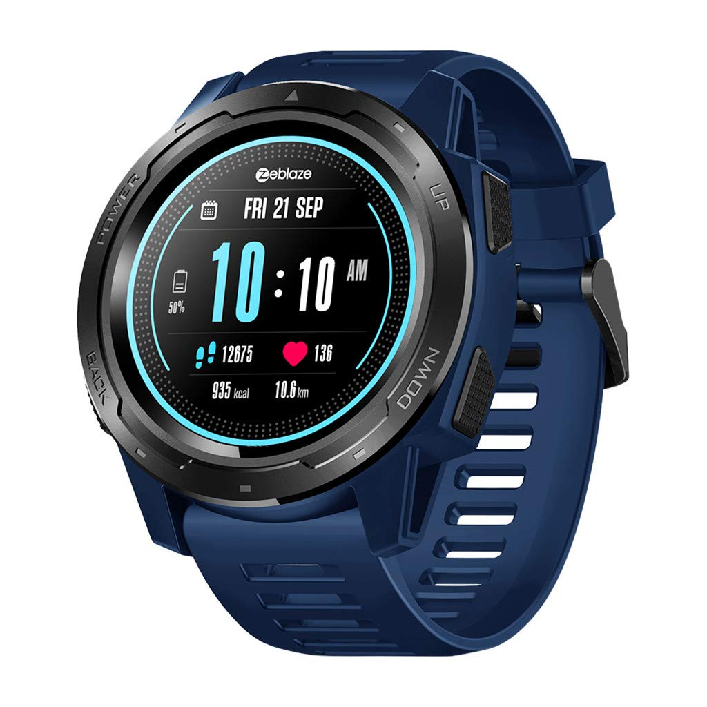 LiboboZeblaze Vibe 5 Heart Rate Blood Pressure Sleep Monitoring Smart Watch Sports (Blue)