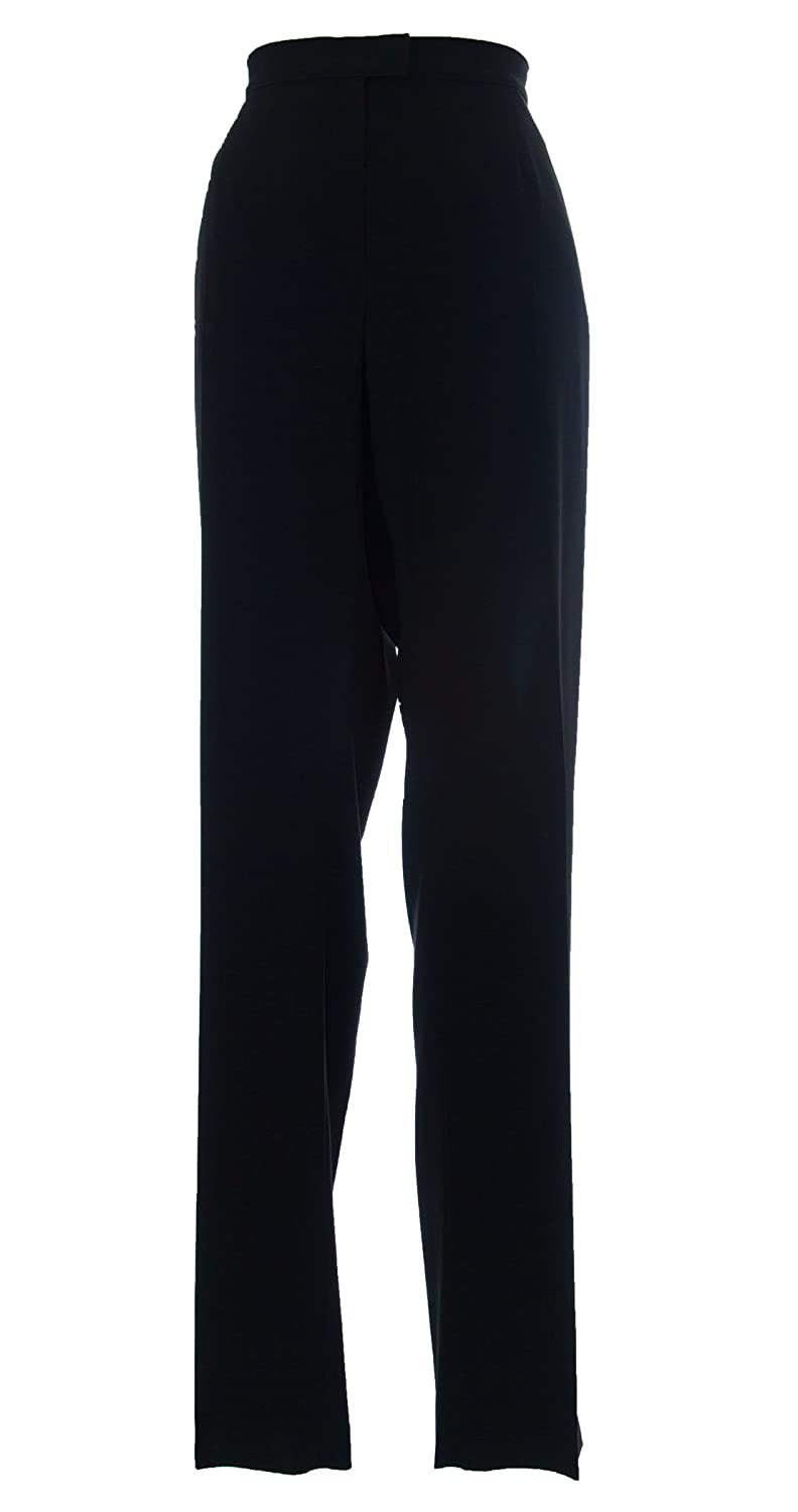MARINA RINALDI by MaxMara Baccata Black Unhemmed Dress Pants