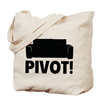 Amazon.com: CafePress - PIVOT! Tote Bag - Natural Canvas Tote Bag ...