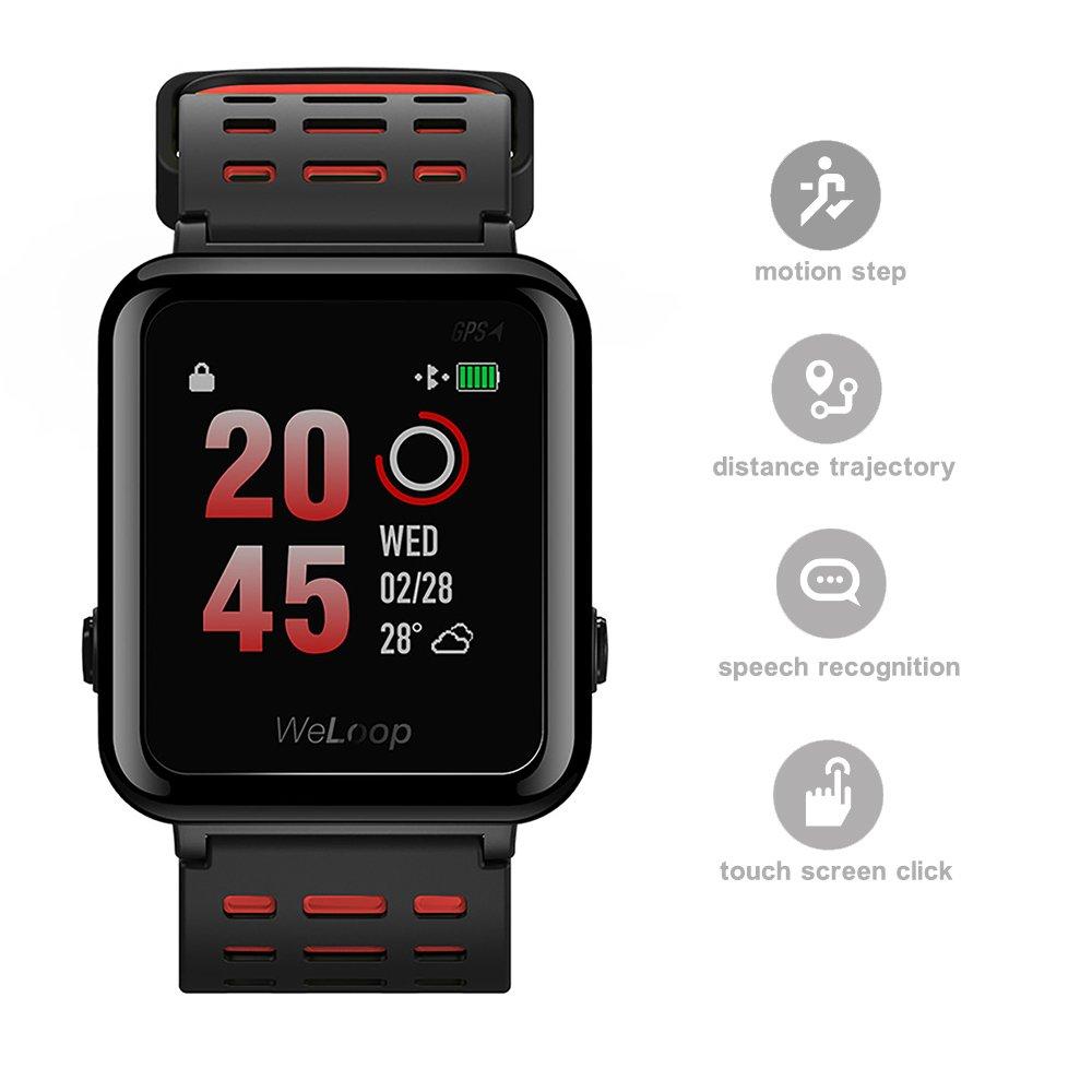 ... tactile fréquence cardiaque GPS Tracker podomètre Exécuter Bain pour moniteur de sommeil Fitness Sport en extérieur étanche montre intelligente pour ...