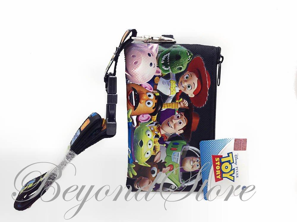 Disney Toys Story Black KeyChain Lanyard Fastpass ID Ticket Holde