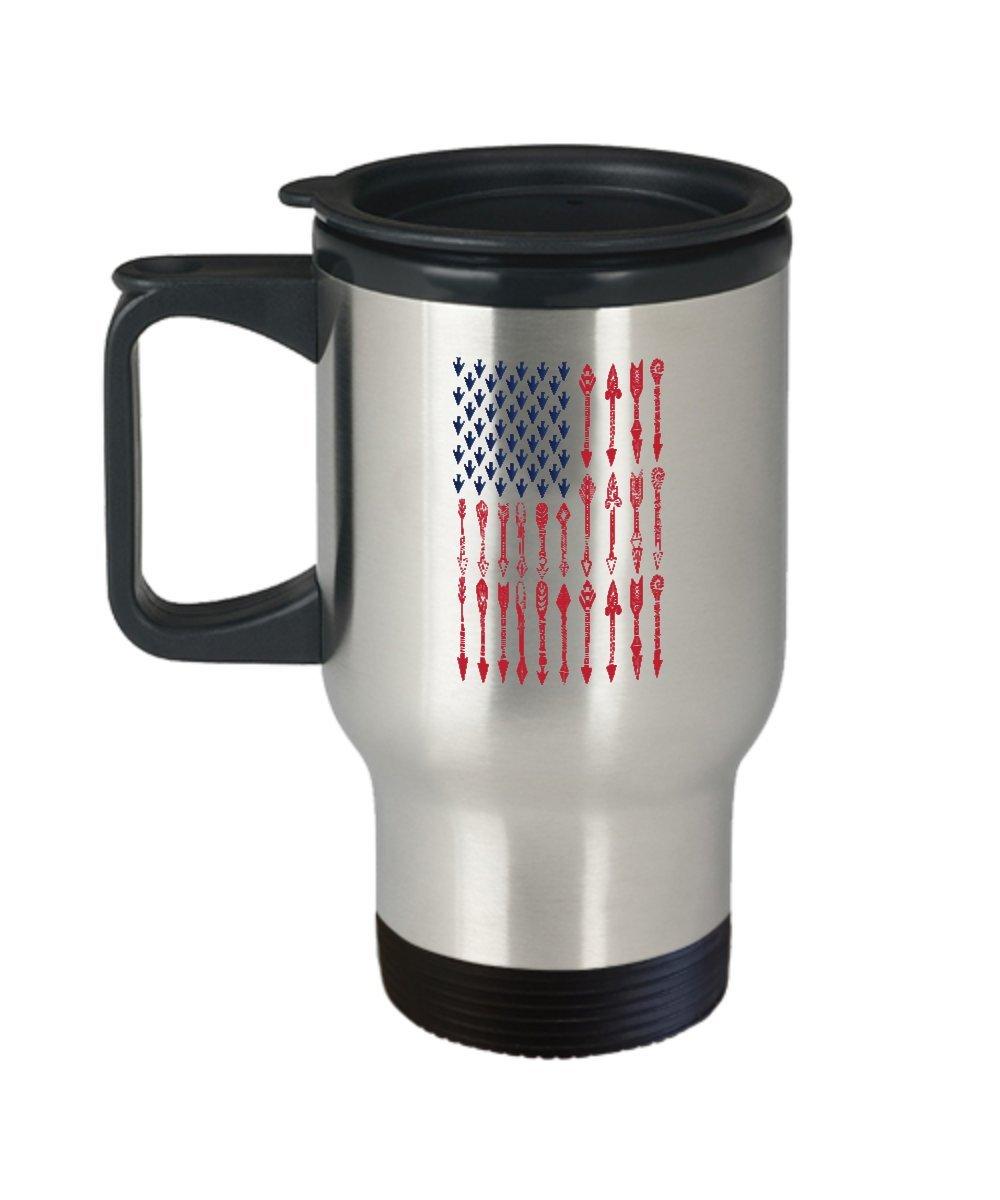 Archerコーヒーマグ – American Archer – アーチェリーGifts – 14 Gステンレススチール旅行カップ   B075PB6FS6