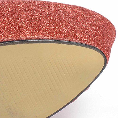 Altezza Party Ladies Red 8 Scarpe Heel Glitter 3 Tacco Taglie Piattaforma New Womens Stiletto ZxAgSFF