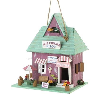 Amazon.com: Tolbsplace Birdhouses - Tienda de helados para ...