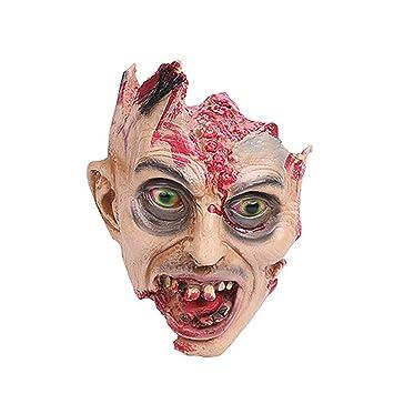 Amazon.com Creepy Halloween Mask Natural Rubber Bloody