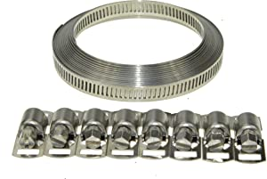 Swordfish 80050-8mm Width Band Stainless Steel Hose Clamp Set, DIY your hose clamp