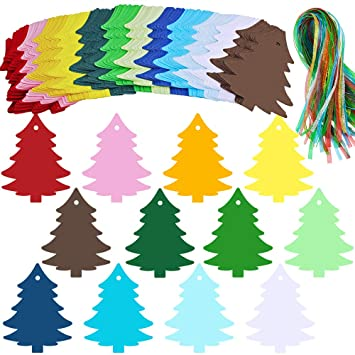 Amazon.com: 120 etiquetas de regalo para árbol de Navidad de ...