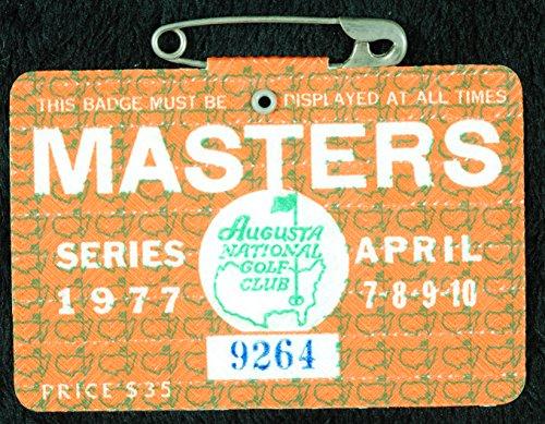 1977 Masters Badge Ticket - Tom Watson