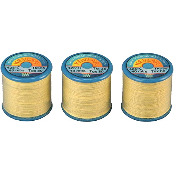 high temperature 150m total Tex-40 Very Strong Kevlar Sewing Thread 3 x 50m reels