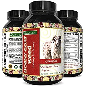 1000 mg All Natural Horny Goat Weed Extract Pills with Maca Root Powder Top Rated Male and Female Enhancement Supplement Pure Libido Enhancer Best Herbal Booster for Women and Men natural male libido enhancement - 61pC3IqF4GL - natural male libido enhancement