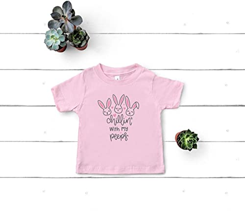 Hanging with my peeps Easter Shirt Toddler Short Sleeve Tee