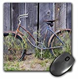 3dRose Oregon, Bend. Bike Against An Old Farm Barn, Us38 Rer0002, Ric Ergenbright Mouse Pad (mp_93998_1)