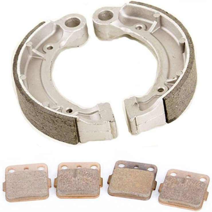 Race Driven Front and Rear Brake Pads /& Shoes for Yamaha Grizzly Bruin Big Bear Kodiak Wolverine YFM 250 350 400
