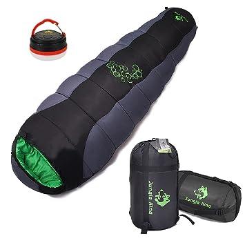 Micrael Home Saco de dormir grueso de la momia con el saco de la compresión para