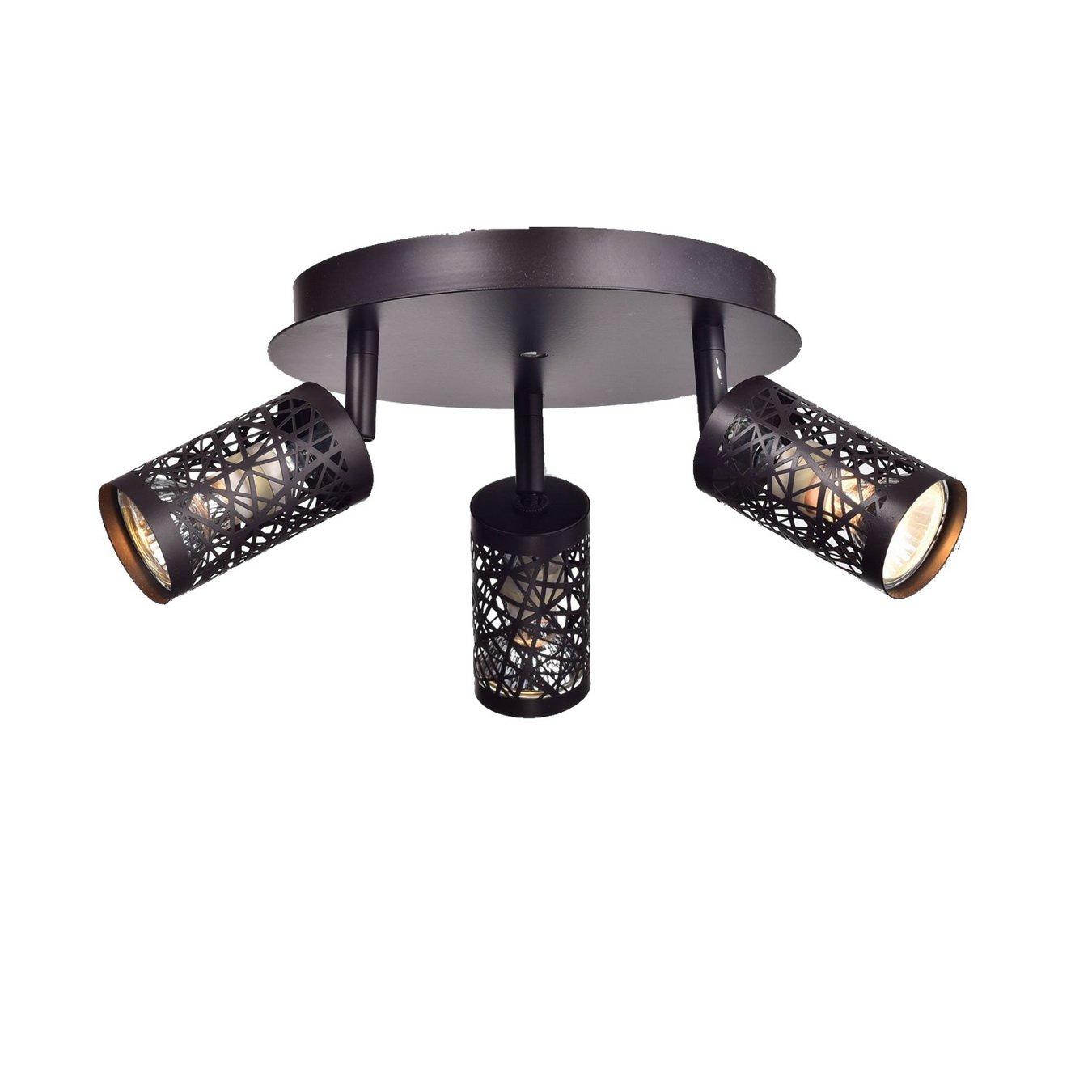 YOBO Lighting Vintage 3-Light GU10 Ceiling Spot Track Light, Oil Rubbed Bronze by YOBO Lighting